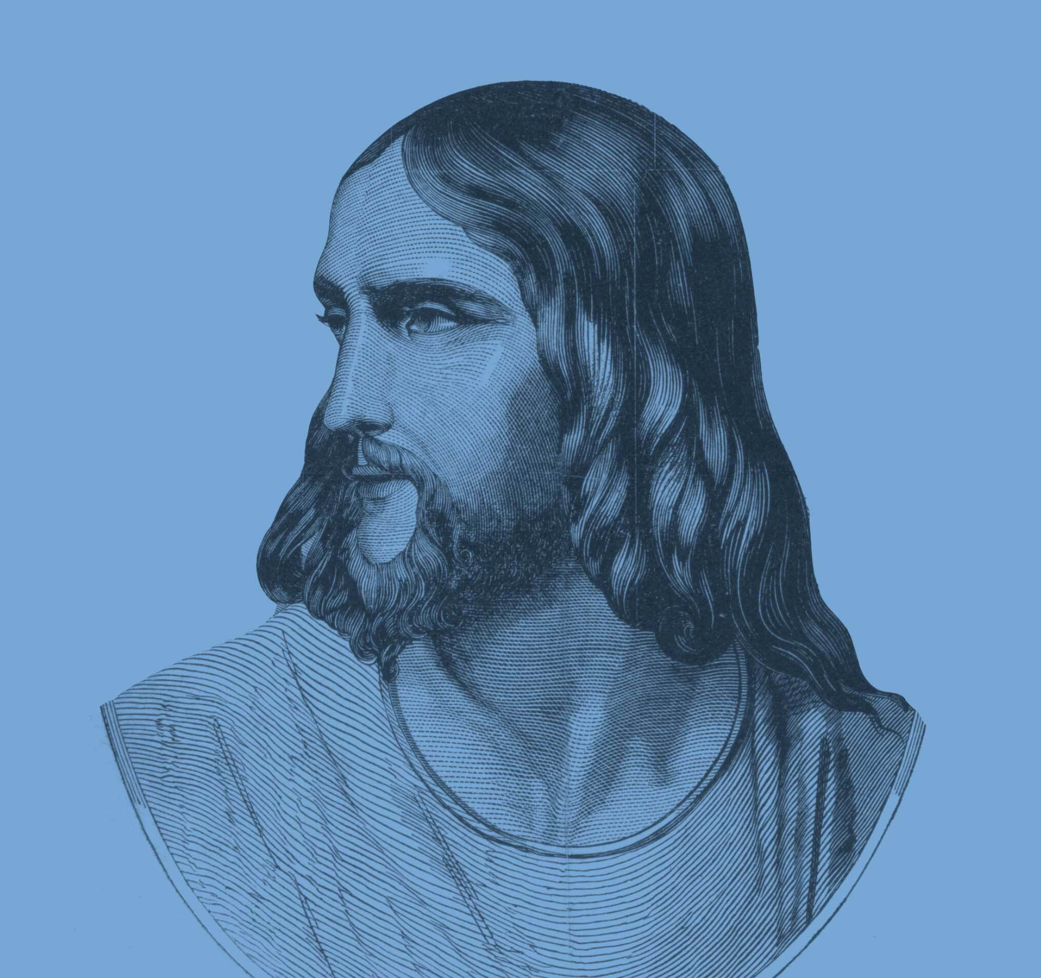 Line drawing of Jesus Christ.