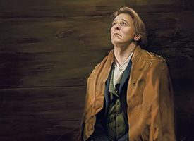 Painting depicting Joseph Smith in Liberty Jail, tearfully praying to Heavenly Father.