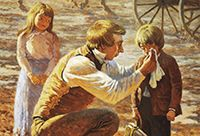 Joseph Smith comforting a crying child