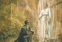 Joseph Smith receiving the Gold Plates