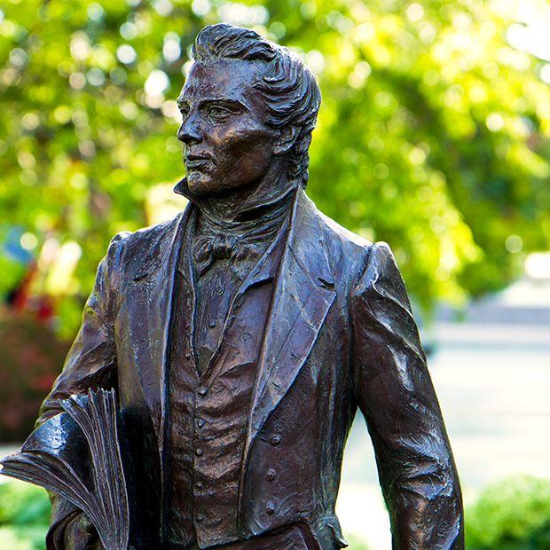 Bronze statue of Joseph Smith