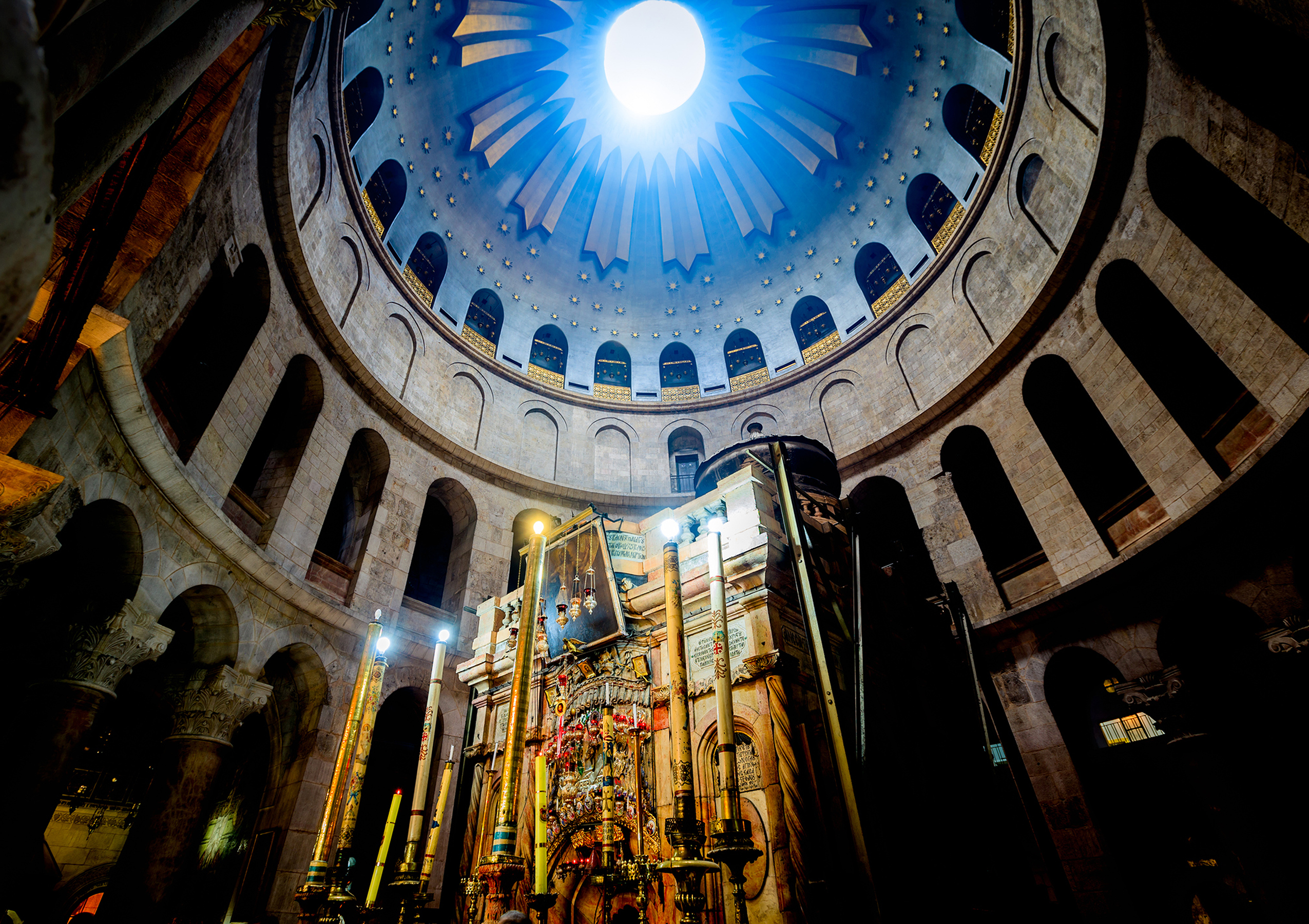 The tomb of Jesus Christ in the Church of the Holy Sepulcher in Jerusalem.