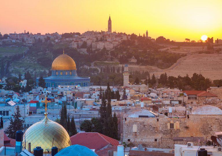 The skyline of Jerusalem.