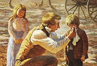 Joseph Smith comforting a crying child.