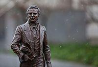 Statue of Joseph Smith on Temple Square.