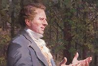 Painting of Joseph Smith giving a sermon.