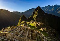 Machu Picchu at sunrise.