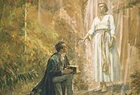 Joseph Smith receiving the Gold Plates.