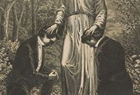 Illustration of Joseph Smith and Oliver Cowdery receiving the Aaronic Priesthood.