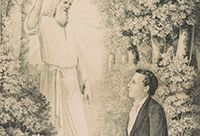 Illustration of an angel appearing before Joseph Smith.