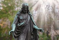Bronze statue of Jesus Christ, our Savior and Redeemer.