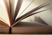 A books pages unraveling