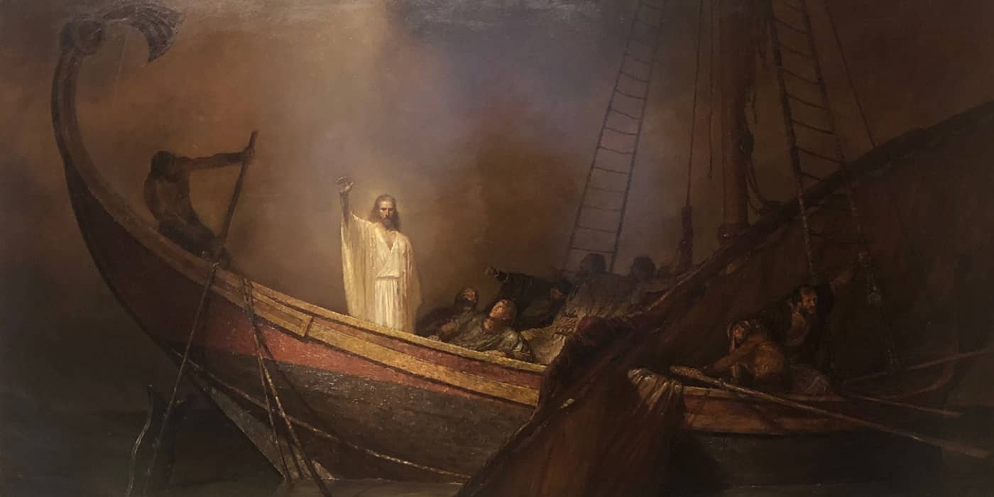 Jesus Christ calms the stormy sea