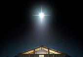 A bright star over a manger