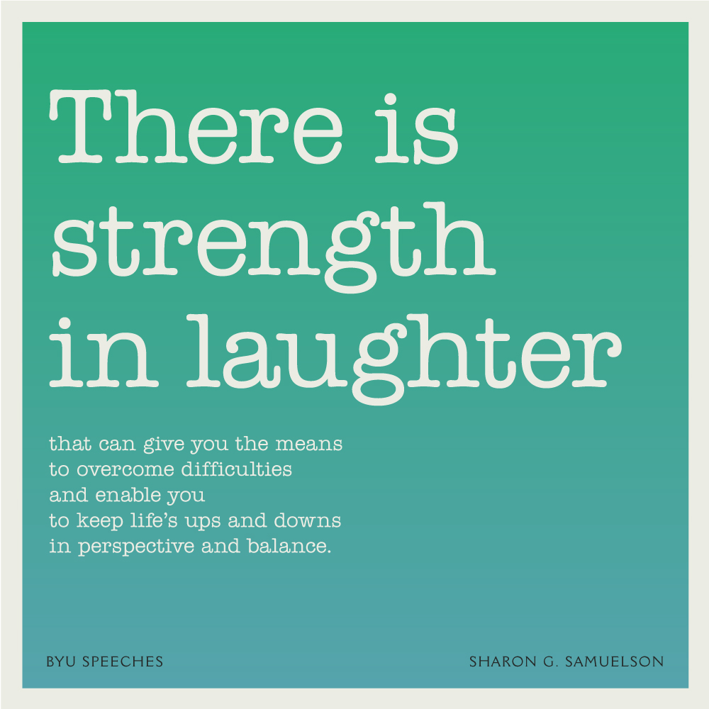 Strength in Laughter, Sharon Samuelson devotional