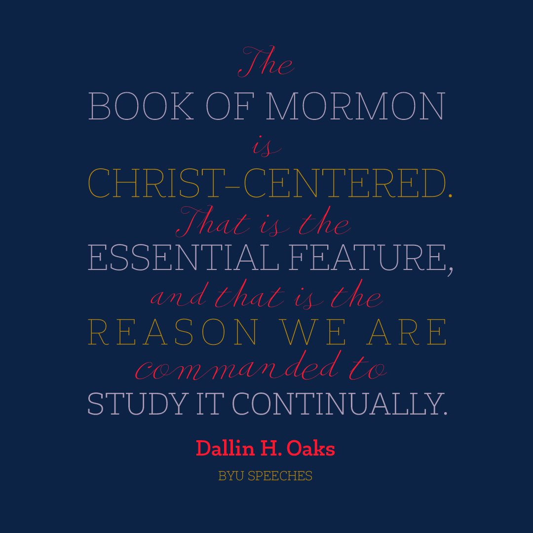 Book of Mormon is Christ-Centered designed quote