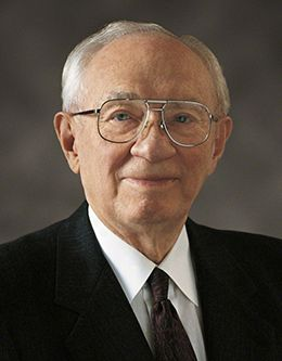 President Gordon B. Hinckley, prophet of The Church of Jesus Christ of Latter-day Saints.