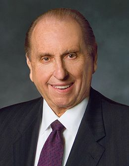 President Thomas S. Monson, prophet of The Church of Jesus Christ of Latter-day Saints.