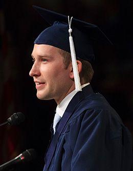 Joseph R. Nance, student representative of the April 2009 graduating class