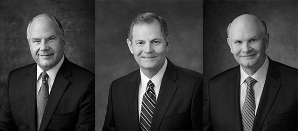 Ronald A. Rasband, Gary E. Stevenson, and Dale G. Renlund
