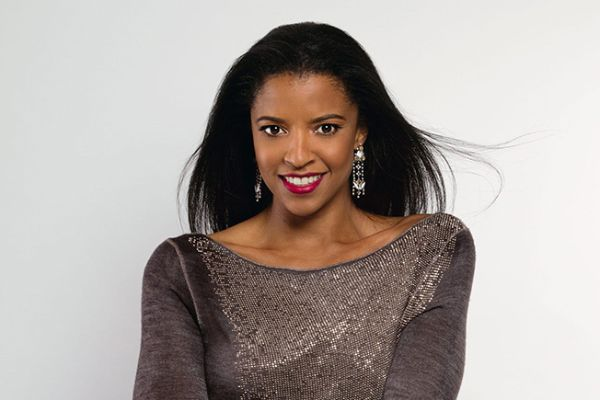 Renée Elise Goldsberry against a white background. Photo taken by Karilyn Sanders.