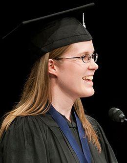 Rachel Ann Seely, student representative of the August 2007 graduating class