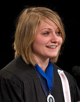 Shannon Stimpson, student representative of the August 2010 graduating class