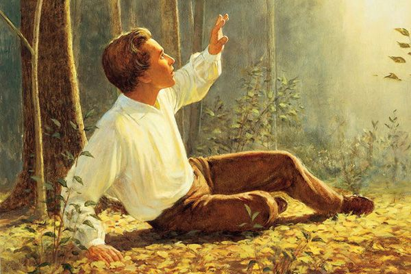 A painting depicting Joseph Smith's First Vision