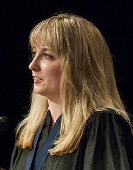 Rachel Kimball Wilcox, student representative of the August 2006 graduating class