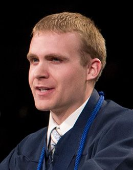 Brian Timothy Wright, student representative of the April 2010 graduating class