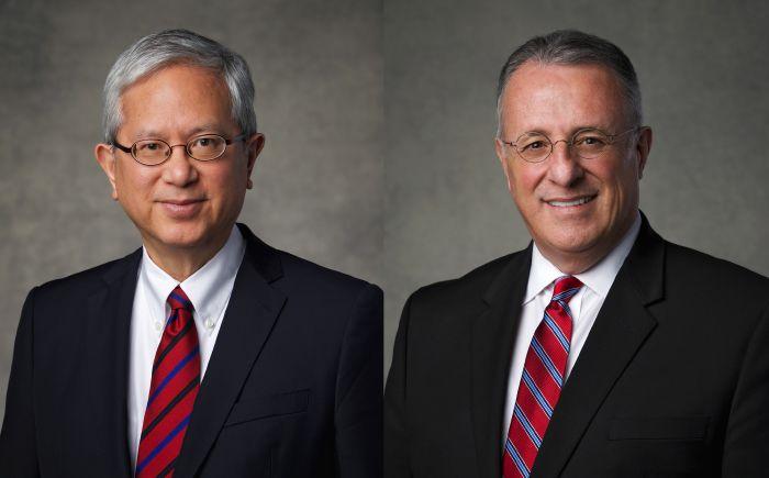Headshots of Elder Gong and Elder Soares